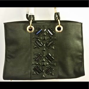 IMAN Faux Leather Tote Handbag
